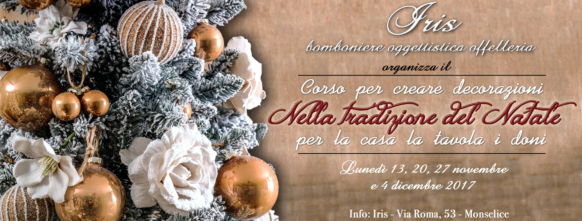 Corso per creare decorazioni natalizie iris bomboniere - Creare decorazioni natalizie ...